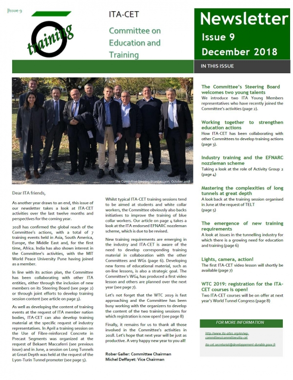 Issue 9 of the ITA-CET newsletter is now available