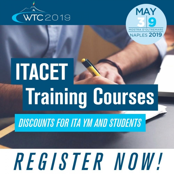 Register now for the ITACET training courses at the WTC 2019!