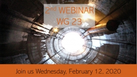 Second Webinar WG 23