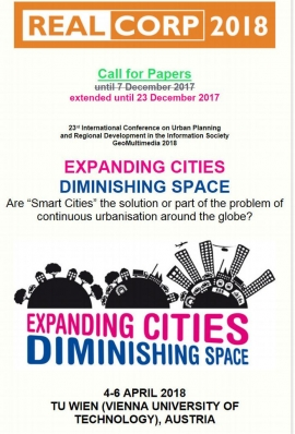 ITACUS wishes to announce the extended call for papers for CORP Real on Expanding Cities - Diminishing Space