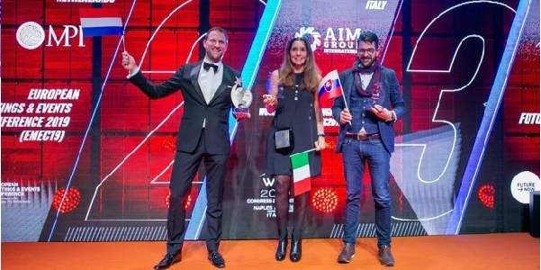 AIM Group won a Best Event Award for WTC 2019