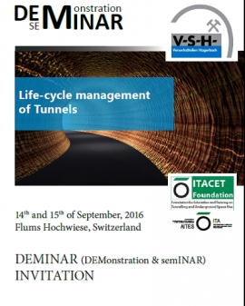 DEMINAR (DEmonstration and SemINAR) on Life-cycle Management of Tunnels: 14th-15th September, Switzerland