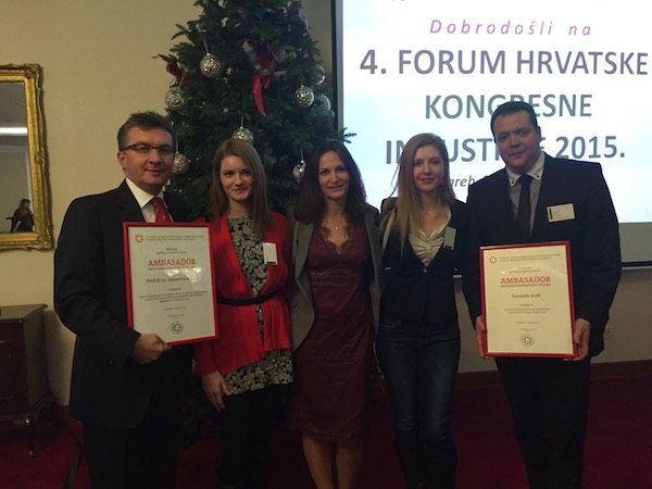 WTC 2015 has been rewarded by the Croatian Forum of Congress Industry